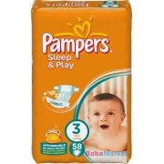 Pampers Sleep & Play pelenka 3 Midi (4-9kg) 58db