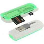 USB 2.0 Multi Card Reader, Support SD/MMC, MS, TF, M2 Card (licht Green)