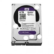 "WD WD60PURX Purple Hard Disk per Videosorveglianza, Intellipower, SATA 6 GB/s, 64 MB Cache, 3.5 "", 6 TB"