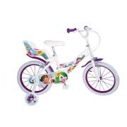 """Toimsa - 1653 - Vélo pour Enfant - Dora l'Exploratrice - Fille - 16"""" - 5 à 8 ans"""