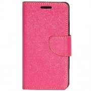 Zaoma Diary Type Flip Cover for Panasonic Eluga A2 - Pink