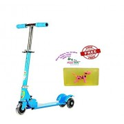 Param Kids Foldable 3 Wheeler Cycle Height Adjustable with Light in Wheel and Bell-Blue + Free Happy Baby Luxurious Kids Soap With Toy Rs.299
