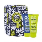 Grace Cole Homme Sport Happy Sack 100ml für Männer - Duschgel Bloke Soak 100 ml + Shampoo Total Filth 100 ml + Tüte für frische Haut