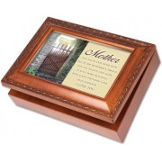 Cottage Garden Mother You Filled Woodgrain Music Box / Jewelry Box Plays Light Up My Life