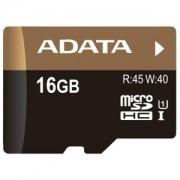 Card memorie microSDHC ADATA Premier Pro 16GB UHS-I U1 Class 10 + adaptor SD