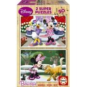 Educa - 15280 - Puzzle en Bois - Minnie - 2X50 Pièces