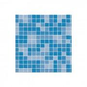 E-plast rotolo tappeto 15 mt h 65 cm mosaico azzurro
