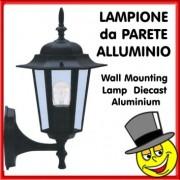 LAMPIONE PARETE IN ALLUMINIO 6 FACCE UP