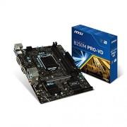 MSI B250M Pro-Vd Scheda Madre, Formato uATX, Chipset Kabylake, Nero