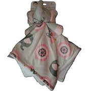 Blankets and Beyond Pink & Grey Elephant Baby Security Blanket Plush