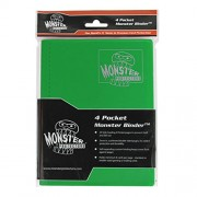 Monster Binder - 4 Pocket Trading Card Album - Matte Green (Anti-theft Pockets Hold 160+ Yugioh, Pok