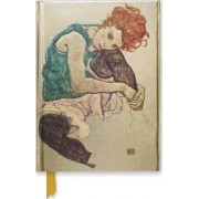 Egon Schiele: Seated Woman (Foiled Journal) by Flame Tree