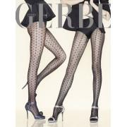 Edle Strumpfhose mit Muster in Netzoptik Paris by Night von Gerbe, schwarz-silbern, Gr. L