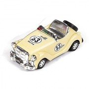ToyerBee Toy Car Retro Classic Car Convertible For Kids - Beige