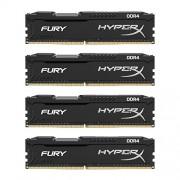 HyperX FURY HX426C15FBK4/16, 16GB, Kit (4x4GB), 2666MHz, DDR4, Non-ECC CL15 DIMM, Compatibili con Skylake