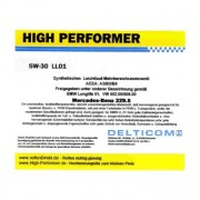 High Performer 5W-30 Longlife Mercedes+BMW 5 Litres Jerrycans