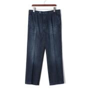 【70%OFF】ウォッシュ加工 デニム ネイビー 48 ファッション > メンズウエア~~パンツ