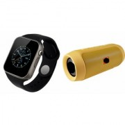 ETN Bluetooth Speaker (_JBL Charge K3+ Speaker) And A1 Smart Watch for Samsung ON 8