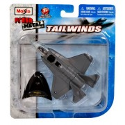 "Maisto Fresh Metal Tailwinds 1:129 Scale Die Cast United States Military Aircraft - U.S. Stealth-Capable Military Strike Fighter Jet : F-35 Lightning II with Display Stand (Dimension: 4-1/2"" x 3-1/4"" x 1"")"