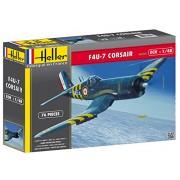 Heller 80415 - Modellino da costruire, Aereo Corsair F4U-7, scala 1:48 [Importato da Francia]