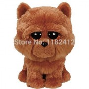 New TY Plush Animals Beanie Boos Barley Brown Chow Dog Plush Toy 15cm/6'' Cute Ty Big Eyes Stuffed Animal Soft Toys for Children by ToySDEPOT