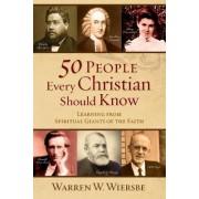 50 People Every Christian Should Know by Warren W. Wiersbe