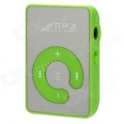 Reproductor de MP3 recargable portatil w / Clip? TF? auriculares - verde + plata