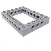 Lego Parts: Technic Brick 6 x 8 Open Center (LBGray)