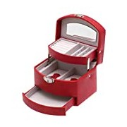 Davidt's Promliss Small Auto Opening Synethetic Jewel Box in Red