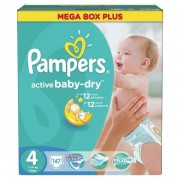 Scutece Active Baby 4 Mega Box Plus,147 buc, Pampers