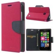 Mercury Goospery Fancy Diary Wallet Case for Nokia Lumia 630 635 - Hot Pink