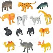 Plastic Animal Zoo conjunto de juguete de Kid T3042 - multicolor