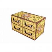 MISS SPACE Pudełko kartonowe 4 szuflady poziome SAWANNA-LEW