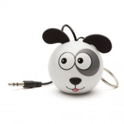 Boxa portabila KitSound Trendz Mini Buddy Dog, KSNMBDOG, Alb