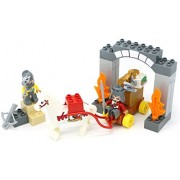 Little Treasures 32 Piece Fantasy Castle And Knights Play Set With Tight Fit Building Bricks That Is Interchangeable With Duplo Bricks
