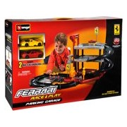Bburago Ferrari Parking Garage + 2 cars