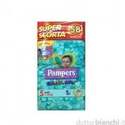 Pannolini pampers baby dry superbag junior 58 pezzi