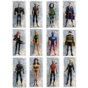 DC COMICS YOUNG JUSTICE ORNAMENTS - Set of 12 DC Comics Young Justice Ornaments Featuring Superman Wonder Woman Whisper Robin Aqulad Micron Black Canary and Additional Young Justice Members Ornaments Average 4 Inches Tall