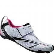 Shimano WT60 SPD-SL Women's Triathlon Shoes - White/Pink - 37