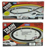 Combo of Battery operated High speed Train with flyover and round Track