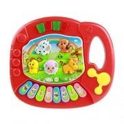Ularmo Baby Kids Musical Educational Animal Farm Piano Developmental Music Toy