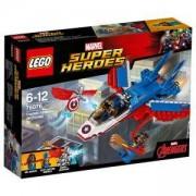 Конструктор Лего СУПЕР ХИРОУС - Капитан Америка – реактивно преследване, LEGO Super Heroes, 76076