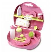Smoby set pentru înfăşat Baby Nurse pentru păpuşă de jucărie 024395 roz-verde
