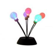 Lampada con 6 lampadine su molle - luce multicolor