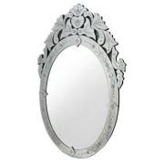 Sun Espelho Veneziano Oval Cor Prata 90 cm ALT 35451 Sun House