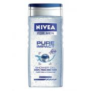 Nivea Men Pure Impact Shower Gel 250ml Körperkosmetik für Herren für Männer Duschgel für Körper und Haare
