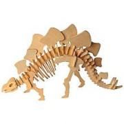 Desconcertado 3101 Gran Stegosaurus 3D Madera Natural Puzzle - 51 Piezas