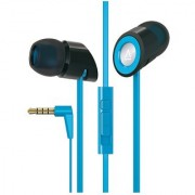 Creative Hitz MA-350 In-Ear Noise Isolating Headphones with 9mm Driver and In-Line Mic and Volume Control (Blue) (Discon