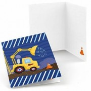 Construction Truck - Party Thank You Cards (8 count)