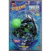 BLACK SEA VENOM with Pump-Up Inflatable Stingray Symbiote * Web Splashers Series * 1997 Marvel Comics Spider-Man Action Figure & Accessories by Marvel